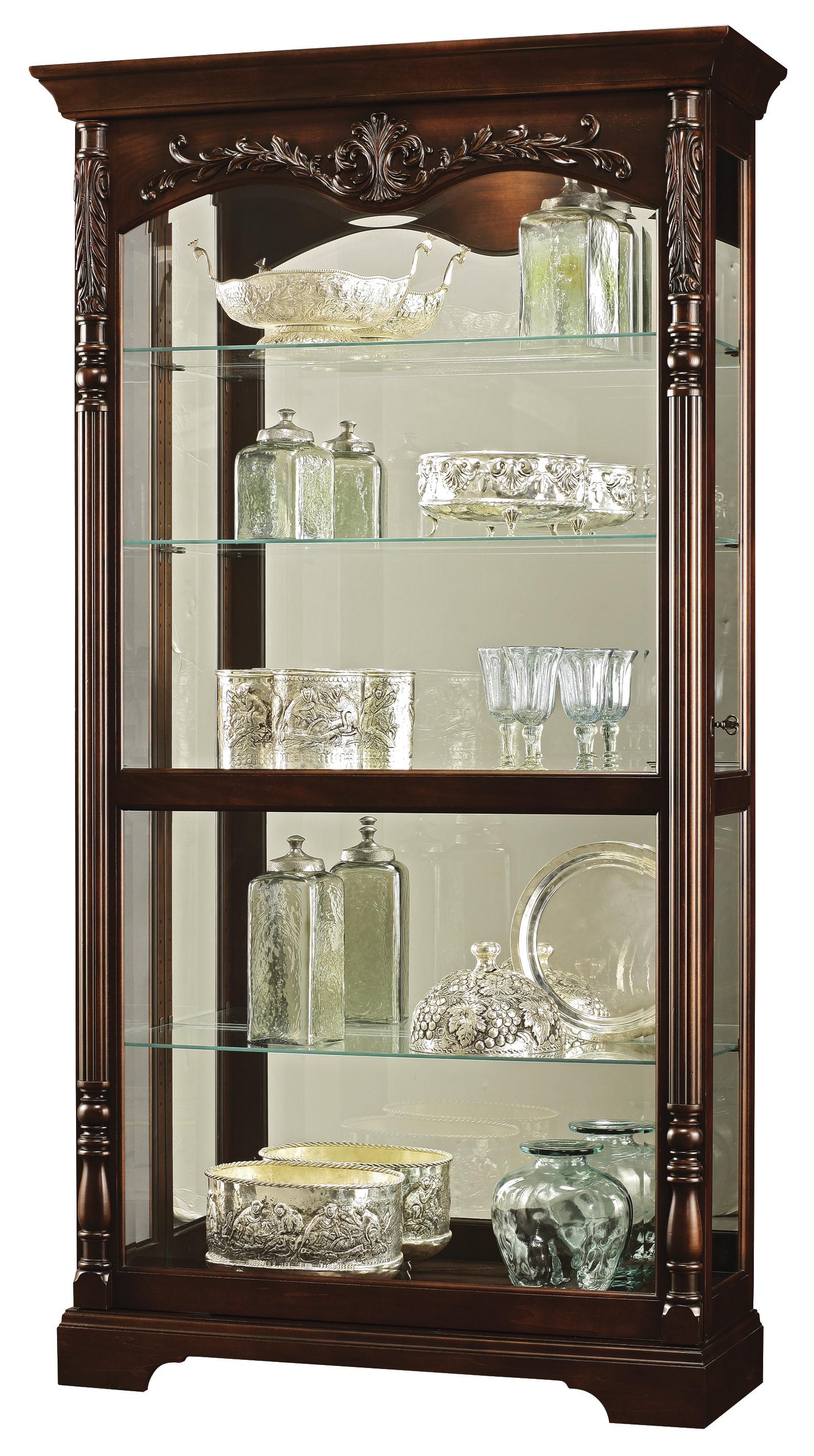 Felicia 680 497 Howard Miller Floor Curio Cabinet